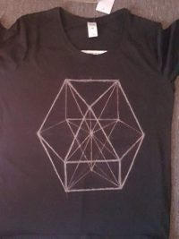 a cuboctohedron design on a tshirt - www.solefeather.com